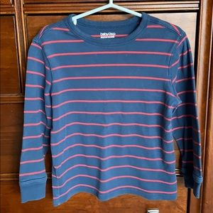 GAP navy & red striped top- size 4 Years.